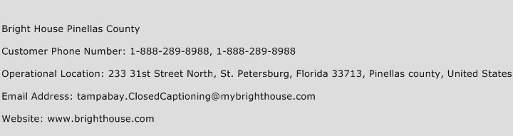 Bright House Pinellas County Phone Number Customer Service