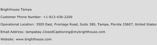 Brighthouse Tampa Phone Number Customer Service