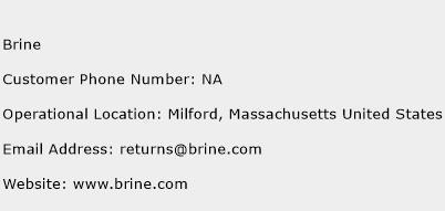 Brine Phone Number Customer Service