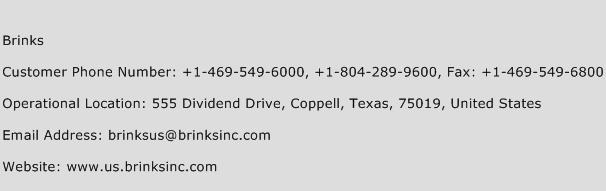 Brinks Phone Number Customer Service