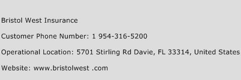 Bristol West Insurance Phone Number Customer Service