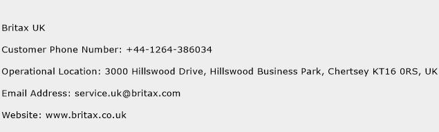 Britax UK Phone Number Customer Service