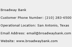 Broadway Bank Phone Number Customer Service