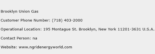 Brooklyn Union Gas Phone Number Customer Service