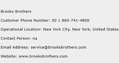 Brooks Brothers Phone Number Customer Service