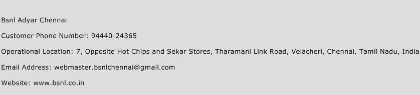 Bsnl Adyar Chennai Phone Number Customer Service