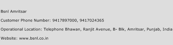 Bsnl Amritsar Phone Number Customer Service