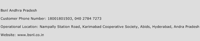 Bsnl Andhra Pradesh Phone Number Customer Service