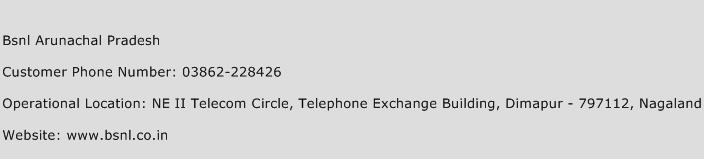 Bsnl Arunachal Pradesh Phone Number Customer Service