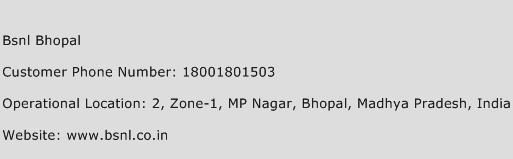 Bsnl Bhopal Phone Number Customer Service