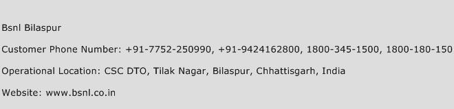 Bsnl Bilaspur Phone Number Customer Service