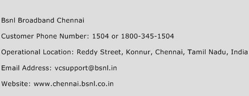 Bsnl Broadband Chennai Phone Number Customer Service