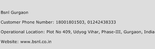 Bsnl Gurgaon Phone Number Customer Service