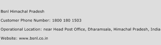 Bsnl Himachal Pradesh Phone Number Customer Service