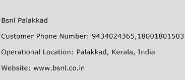 Bsnl Palakkad Phone Number Customer Service