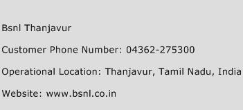 Bsnl Thanjavur Phone Number Customer Service