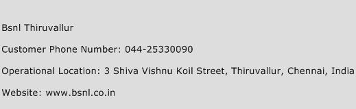 Bsnl Thiruvallur Phone Number Customer Service