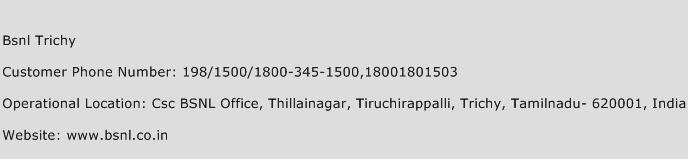 Bsnl Trichy Phone Number Customer Service