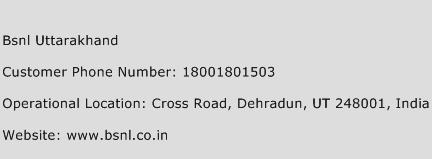Bsnl Uttarakhand Phone Number Customer Service