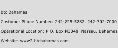 Btc Bahamas Phone Number Customer Service