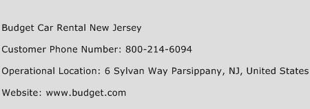 Budget Car Rental New Jersey Phone Number Customer Service