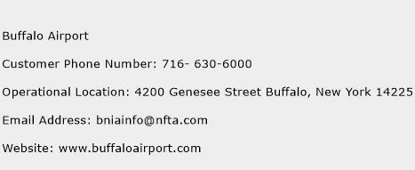 Buffalo Airport Phone Number Customer Service