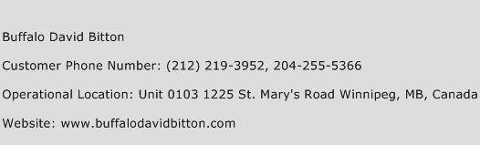 Buffalo David Bitton Phone Number Customer Service