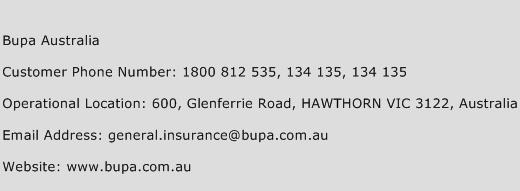 Bupa Australia Phone Number Customer Service