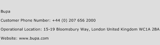 Bupa Phone Number Customer Service