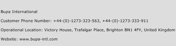 Bupa International Phone Number Customer Service
