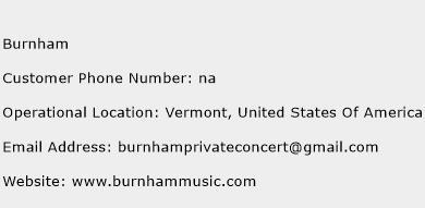 Burnham Phone Number Customer Service