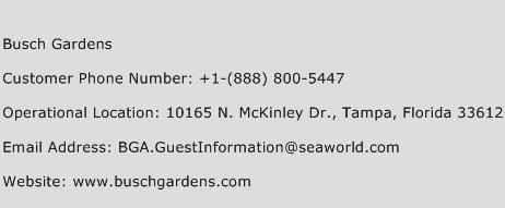 Busch Gardens Customer Care Number Toll Free Phone Number Of Busch Gardens