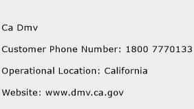 CA DMV Phone Number Customer Service