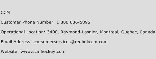 CCM Phone Number Customer Service