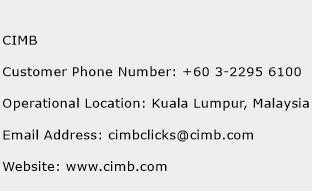 CIMB Phone Number Customer Service