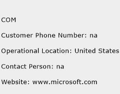 COM Phone Number Customer Service