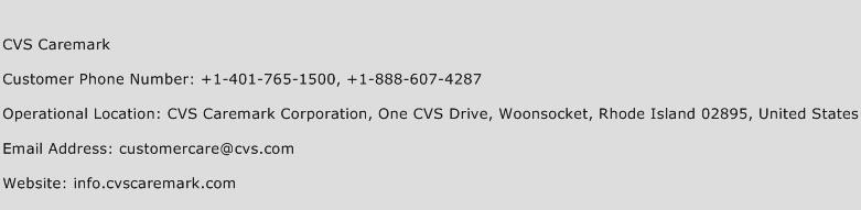 CVS Caremark Customer Service Number | Contact Number | Toll Free ...
