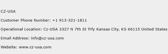 CZ-USA Phone Number Customer Service