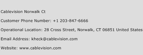 Cablevision Norwalk Ct Phone Number Customer Service