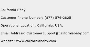 California Baby Phone Number Customer Service