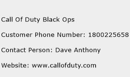 Call Of Duty Black Ops Phone Number Customer Service