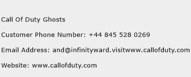 Call Of Duty Ghosts Phone Number Customer Service