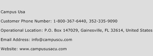 Campus Usa Phone Number Customer Service