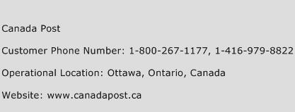 Canada Post Phone Number Customer Service