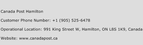 Canada Post Hamilton Phone Number Customer Service