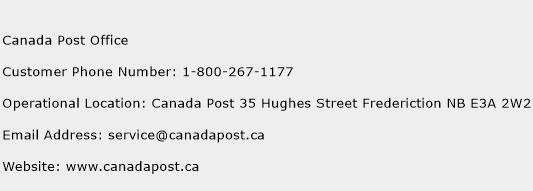 Canada Post Office Phone Number Customer Service
