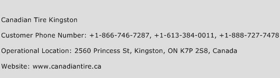 Canadian Tire Kingston Phone Number Customer Service