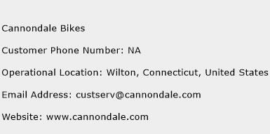 Cannondale Bikes Phone Number Customer Service