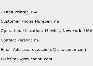 Canon Printer USA Phone Number Customer Service