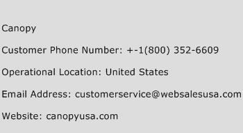 Canopy Phone Number Customer Service